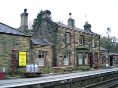 Goathland Station. North Yorkshire, England, Harry Potter  fans may recognise it as Hogsmead Station from the films