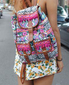 So cute! i want this bag!!!! Primark Aztec / Tribal Print Rucksack