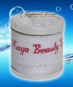 Souvenir handuk murah dengan packing tabung mika  http://www.rajawaliemas.com/