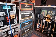 John 5's amp rack for Rob Zombie shows. Photo by Paul Marshall.