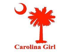 Clemson Girl / Carolina Girl - Vinyl decals - custom orders available
