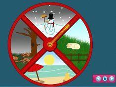 Seizoenenklok voor op het digibord Apps, Android, 4 Kids, Story Time, Science, Kids Learning, Preschool, Classroom, Weather