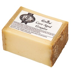 Emmi Cave-Aged Gruyere. Most rare of all the Swiss Gruyeres, this delectable cheese with an earthy, assertive flavor is aged for 9 months in Alpine caves. Product of Switzerland.