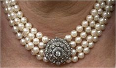 The Duchess of Cornwall's Four Strand Pearl Choker with Diamond Clasp.