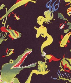 I love the 40's feel of these illustrations.  (Yes, they are indeed from the 40's.) Fairy Tales From the North by Einar Nerman