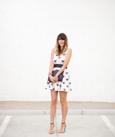 Kitty Print Dress | a house in the hills