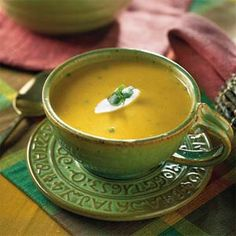 Soup Recipes: Creamy Southwestern Pumpkin Soup - Easy Soup and Stew Recipes - Southern Living Fall Recipes, Soup Recipes, Recipies, Dinner Recipes, Fun Cooking, Cooking Recipes, Cooking Tips, Healthy Recipes, Creamy Pumpkin Soup