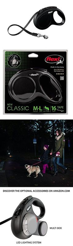 Leashes and Head Collars 146247: Flexi New Classic Retractable Dog Leash Tape 16 Ft, Medium Large, Black -> BUY IT NOW ONLY: $30.47 on eBay!