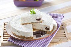 """Cheesecake de coco e chocolate - Teleculinária Chocolate, Pudding, Sweets, Desserts, Recipes, Food, Cakes, Anime, Style"
