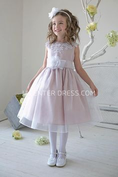 $51.71-Cute Split-Front Tea-Length Appliqued Beaded Lace&Sequins Pink Flower Girl Dress. http://www.ucenterdress.com/split-front-tea-length-appliqued-beaded-lace&sequins-flower-girl-dress-with-tiers-pMK_401357.html. Shop for best flower girl dress, baby girl dress, girl party dress, gowns for girls, dresses for girl, children dresses, junior dress, pageant dresses for girls We have great 2016 fall Flower Girl Dresses on sale. Buy Flower Girl Dresses online at UcenterDress.com today…