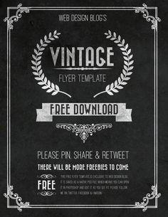 Free Vintage Flyer template