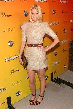 Jamie King nude dress, belt and flats
