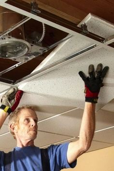 How to install recessed lighting in a drop ceiling basement reno how to install a drop ceiling aloadofball Images