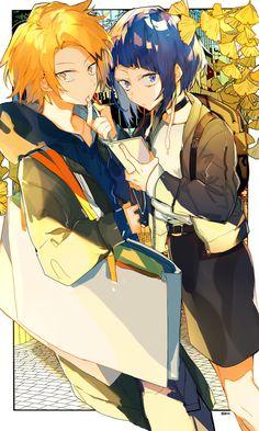 Characters: Kaminari Denki, Kyouka Jirou