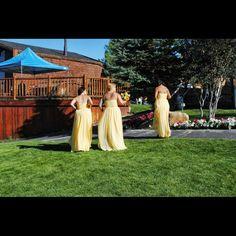 Formal prom/ braids maid dress Beautiful pastel yellow Dresses