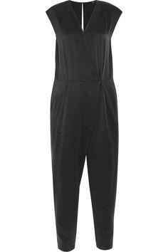 TIBI Open-Back Washed-Silk Jumpsuit. #tibi #cloth #jumpsuit