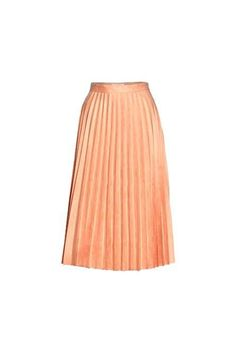 Faux suede pleated skirt with zip closure 100% Polyester #Fall16
