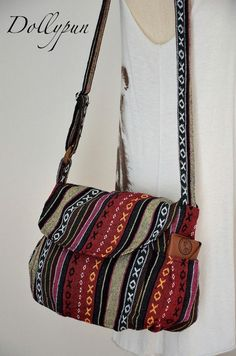 Nepali hippie style handbag, Cross body bag, Boho, Bohemian bag, Shoulder bag, Sling bag, Messenger bag, Purse MN134 on Etsy, $14.98