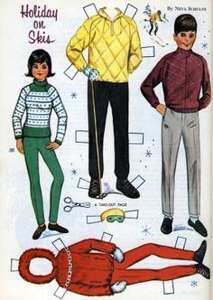 Saved From The Paper Drive: Golden Magazine Paper Dolls