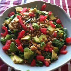 Sprouted lentil salad!