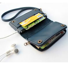 Italian leather change purse for iphone,wholesale multi-purpose wallets