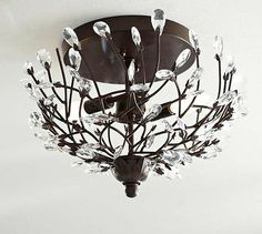 Just got this one too! Can't wait to start decorating the house! Camilla Flushmount #potterybarn