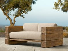 restoration hardware outdoor wood couch - Google Search
