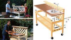 Från Vi i villa. Home Furniture, Outdoor Furniture Sets, Outdoor Decor, Grill Station, Bbq Area, Garden Inspiration, Barbecue, Kitchen Design, Sweet Home