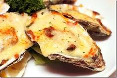 OYSTERS MORNAY!  Cheesy oysters! What a taste sensation!  Visit http://adamsfamilymeats.com.au/product/sydney-rock-oysters/ for recipe suggestions :) #adamsfamilymeats #seafood #onlineseafood #oysters #oystersmornay