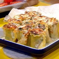 Spinach and Mushroom Lasagna Roll-Ups with Gorgonzola Cream Sauce by Food Network