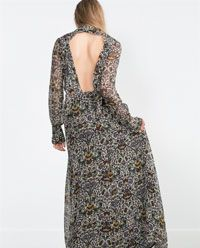 Image 5 of PRINTED LONG SLEEVE MAXI DRESS from Zara