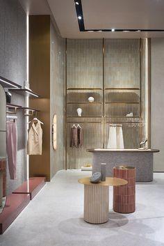 Studiopepe celebrates Thai craft inside Jaspal store interior in Bangkok Boutique Interior, Retail Interior Design, Retail Store Design, Retail Shop, Interior Design Tips, Retail Displays, Shop Displays, Window Displays, Retail Boutique
