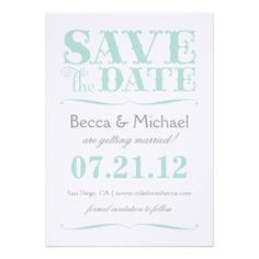 SAVE THE DATE #modern #wedding #save #the #date #invitation #typography #design…