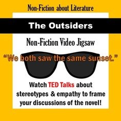 Ted Talks about prejudice, bias, and stereotypes to tie into The Outsiders. jj