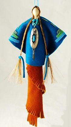 Native American art doll