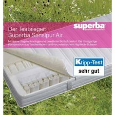 Testsieger Matratze Superba Sensipur Air