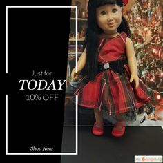 "Today Only! 10% OFF this item.  Follow us on Pinterest to be the first to see our exciting Daily Deals. Today's Product: 18 inch doll clothes ""A Christmas Plaid"" 18 inch doll dress leggings headband Christmas black red plaid H4 Buy now: https://small.bz/AAhmaWn #etsy #etsyseller #etsyshop #etsylove #etsyfinds #etsygifts #musthave #loveit #instacool #shop #shopping #onlineshopping #instashop #instagood #instafollow #photooftheday #picoftheday #love #OTstores #smallbiz #sale #dailydeal…"