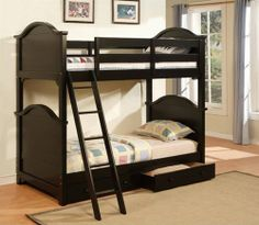 Folding Twin Bed for Children — Cale Donia Design Black Bunk Beds, Bunk Beds Boys, Bunk Bed Rooms, Wooden Bunk Beds, Bunk Bed With Trundle, Metal Bunk Beds, Bunk Beds With Stairs, Kid Beds, Convertible Bunk Beds