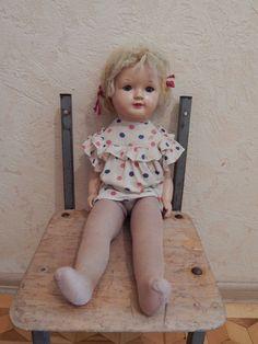 Кукла опилочная , ранняя Ленигрушка . Редкая !
