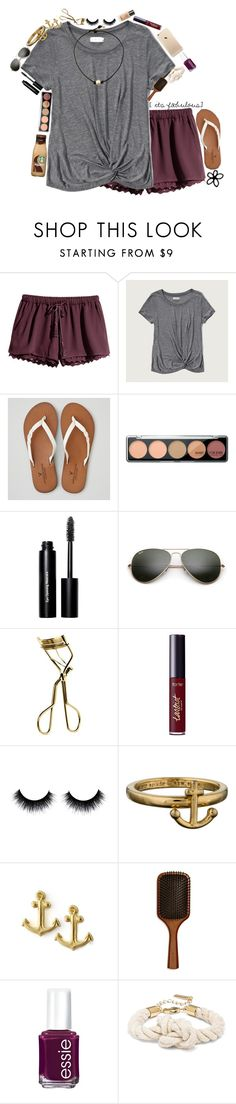 """goodnight"" by taylorvel ❤ liked on Polyvore featuring H&M, Abercrombie & Fitch, American Eagle Outfitters, Bobbi Brown Cosmetics, Ray-Ban, MAC Cosmetics, tarte, Kate Spade, Dogeared and Aveda"