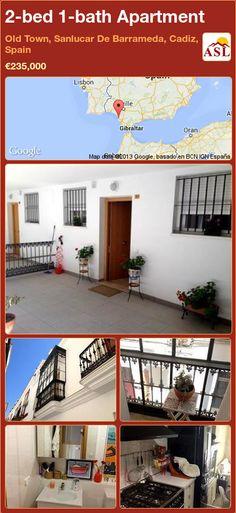 2-bed 1-bath Apartment in Old Town, Sanlucar De Barrameda, Cadiz, Spain ►€235,000 #PropertyForSaleInSpain