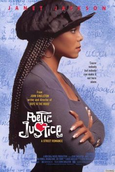 High Resolution / HD Movie Poster Image for Poetic Justice Iconic 90s Movies, Classic Movies, Iconic Movie Posters, 80s Movies, Movies Showing, Movies And Tv Shows, Series Movies, Tv Series
