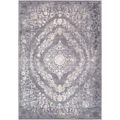 Charlton Home Thissell Vintage Persian Medallion Grey Area Rug Rug Size: Rectangle x Grey And Beige, White Charcoal, Traditional Area Rugs, Throw Rugs, Joss And Main, Timeless Design, Blue Area Rugs, Rug Size, Size 2