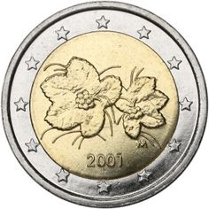 2 Euro from year 2005 - Finland Euros Euro Coins, World Coins, Coin Collecting, Charcuterie, Festive, Bronze, Silver, Gold, Collection