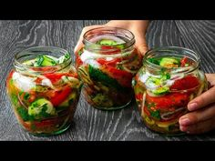 Télen is ehetsz nyári salátát. Mindenkit lenyűgöz| Ízletes TV - YouTube Feeling Hungry, Fresh Rolls, Pickles, Food And Drink, Ethnic Recipes, Pickling, Preserves, Meals, Dressings