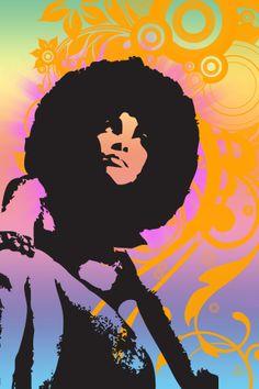 Black Women Art, Black Art, Stencil Street Art, 60s Art, Black Light Posters, Music Artwork, Vintage Soul, Hippie Art, Soul Art