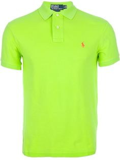 Neon green polo shirt from POLO BY RALPH LAUREN