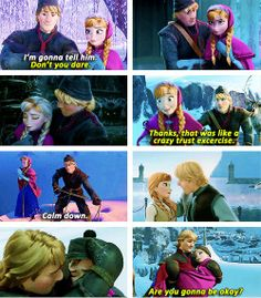 Frozen - Princess Anna and Kristoff are my favorite Disney couple. No doubt. Disney Couples, Disney Girls, Disney Love, Disney Magic, Disney Stuff, Disney And Dreamworks, Disney Pixar, Walt Disney, Disney Characters