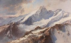View of the Großglockner from the large Wiesbachhorn    Edward Theodore Compton, 1919 Oil on canvas 90.5 x 150,5 cm