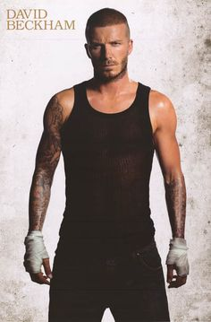 David Beckham Man In Black Portrait Pin-Up Poster 24x36